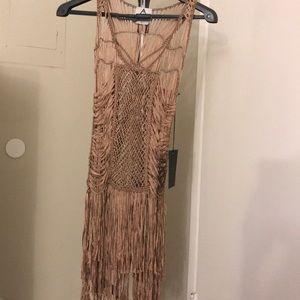 Blush woven flapper/mermaid style dress